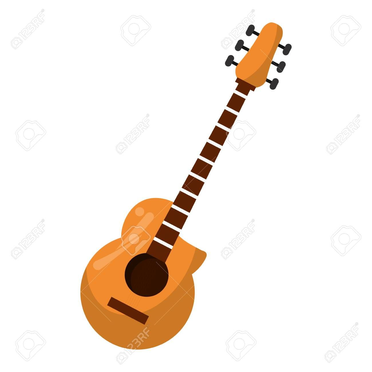 Acoustic Guitar Music Instrument Vector Illustration Graphic Design Aff Music Instrumen Acoustic Guitar Music Typography Design Layout Typography Design