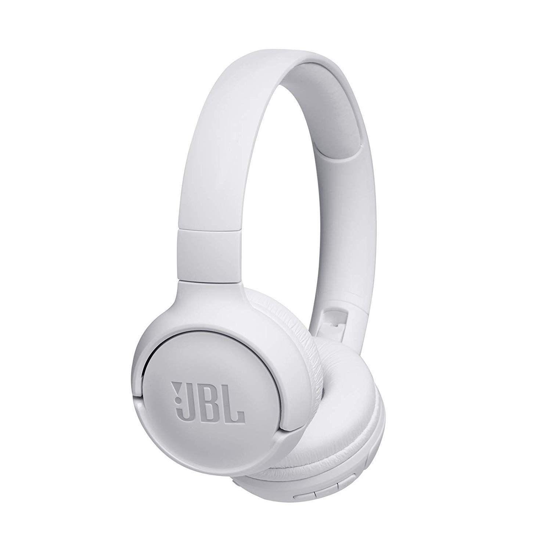Jbl Tune 500bt Powerful Bass Wireless On Ear Headphones With Mic White In Ear Headphones Wireless Headphones Bluetooth Headphones Wireless