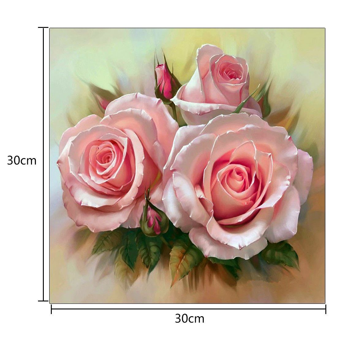 5d Diy Diamond Painting Flower Lily Rose Cross Stitch Embroidery