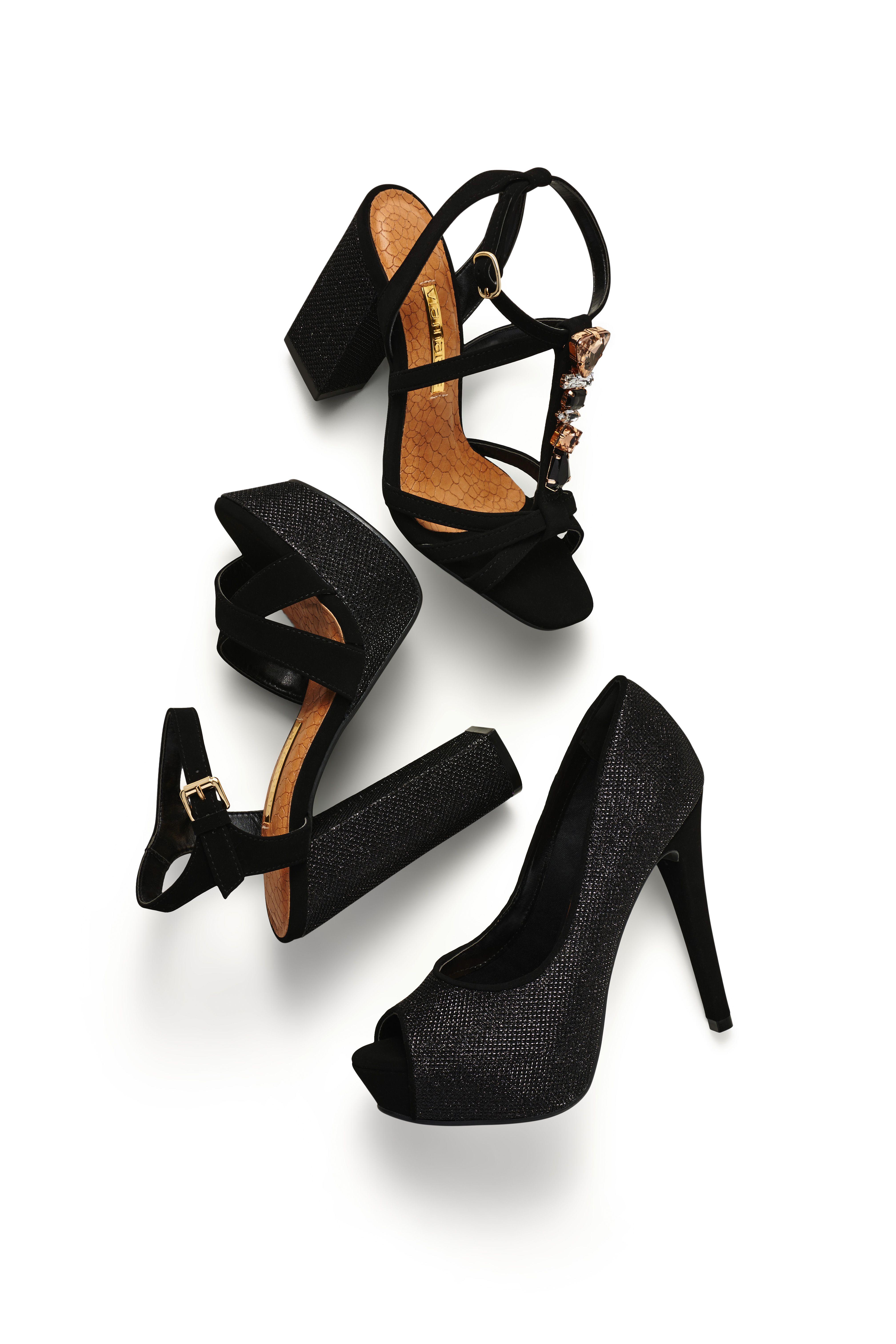 99fe205cd5 Sandália de salto alto – heels – party shoes – brilho – metalizado – peep  toe - pedraria - salto grosso - Verão 2016 – ref. 15-14107