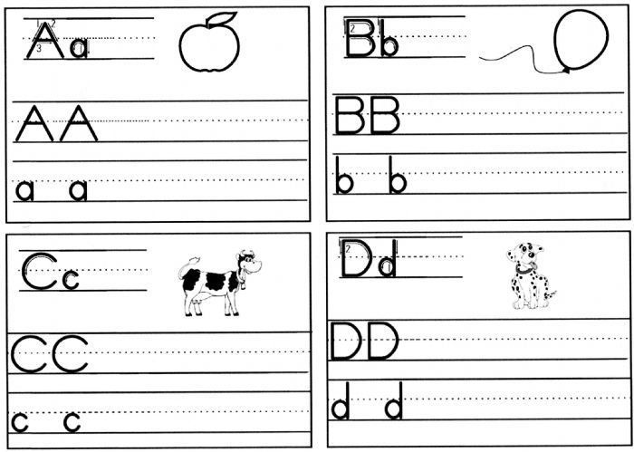 Practice Writing Worksheets For Kindergarten free worksheets a z – Alphabet Practice Worksheets for Kindergarten