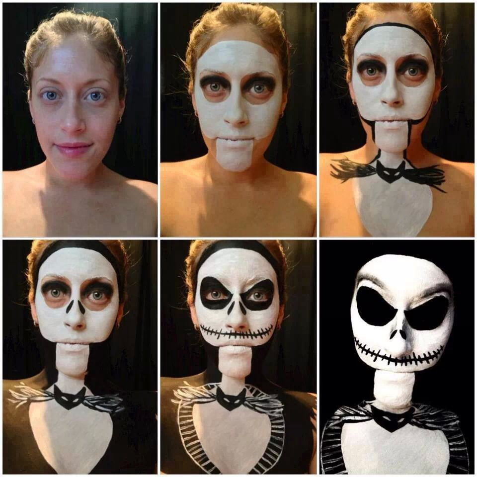 Nightmare Before Christmas makeup | characterization | Pinterest ...
