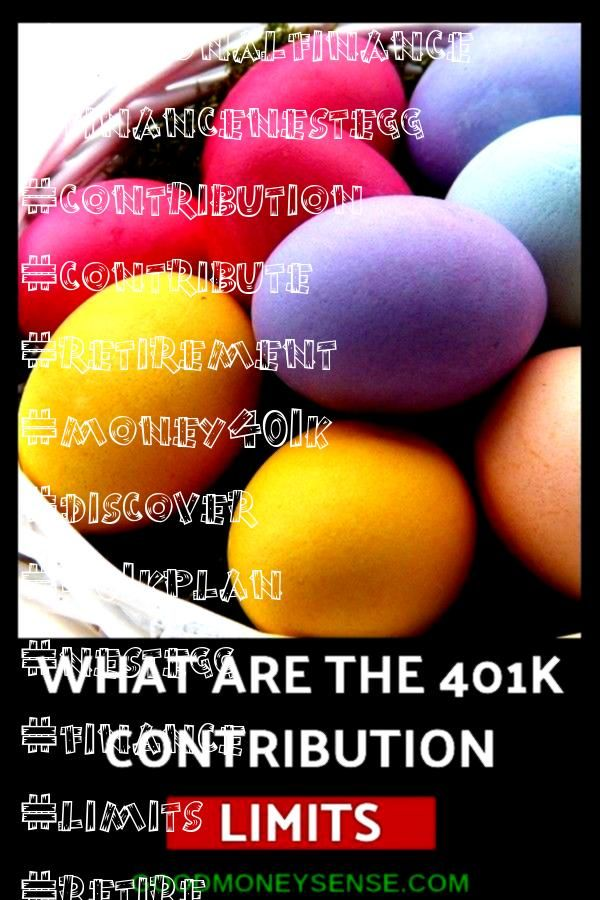 Limits for 2019 One of the best way to save money for retirement while saving on your taxes is with a 401k Discover what the annual contribution limit is that you can con...