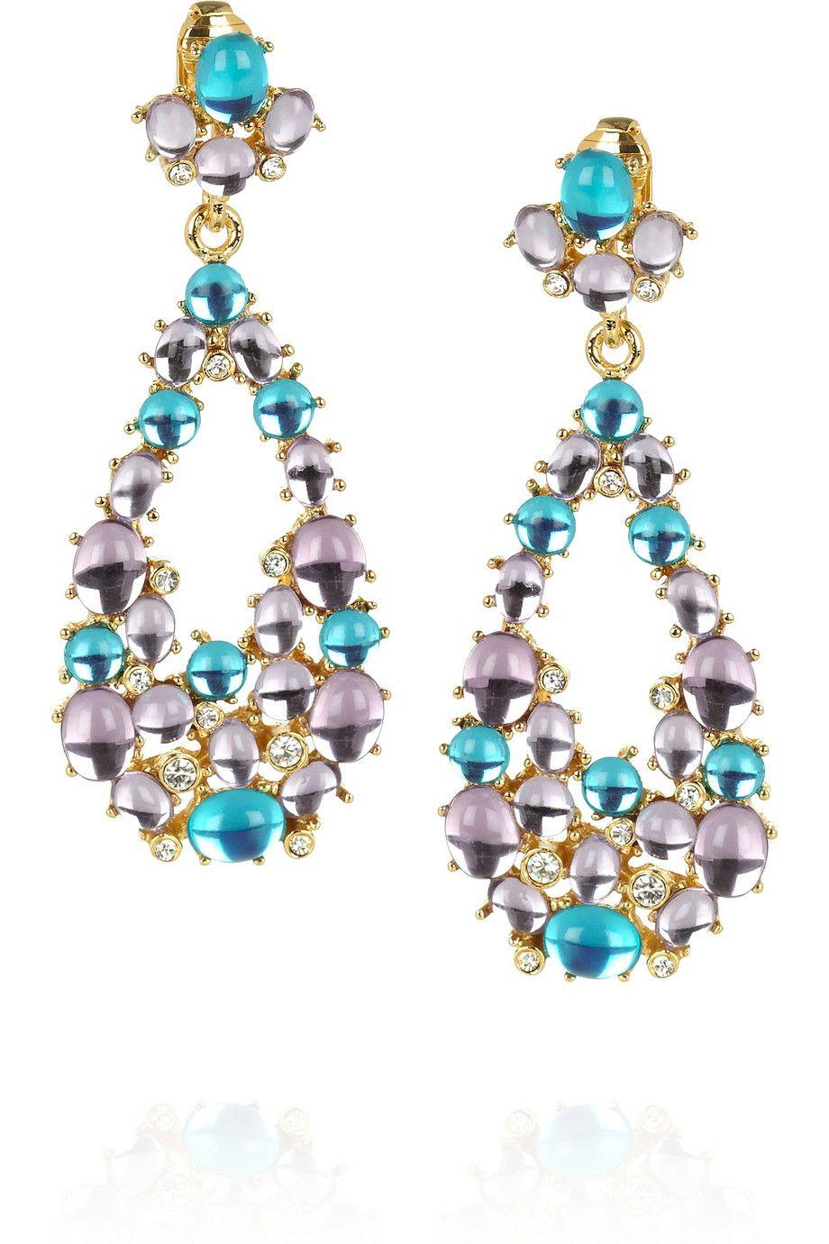Kenneth Jay Lane Kenneth Jay Lane Woman Gold-tone Bead Clip Earrings Mint Size 160FBIfrX