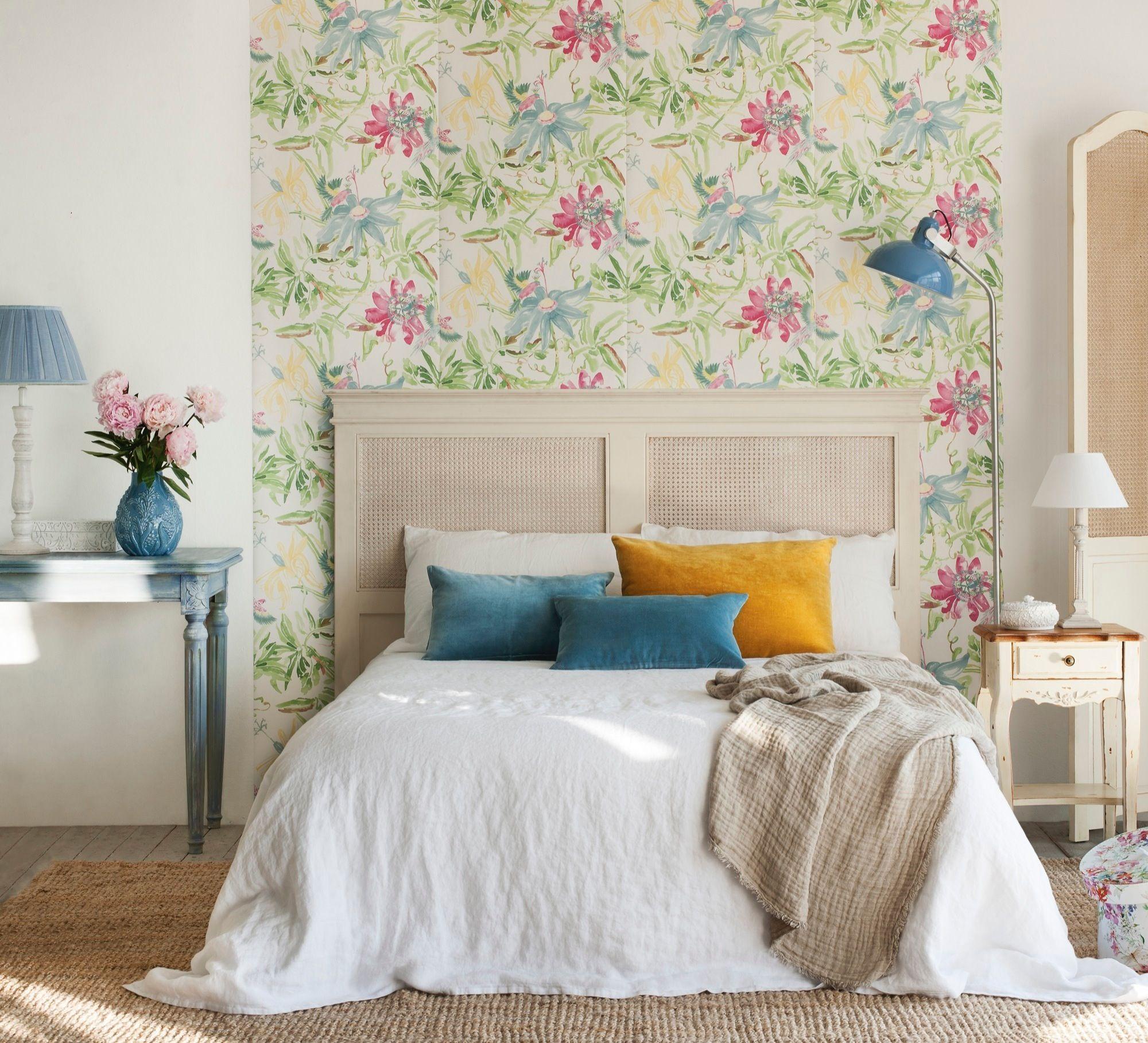Cabecero enmarcado con papel pintado Pinterest Bedrooms Quartos