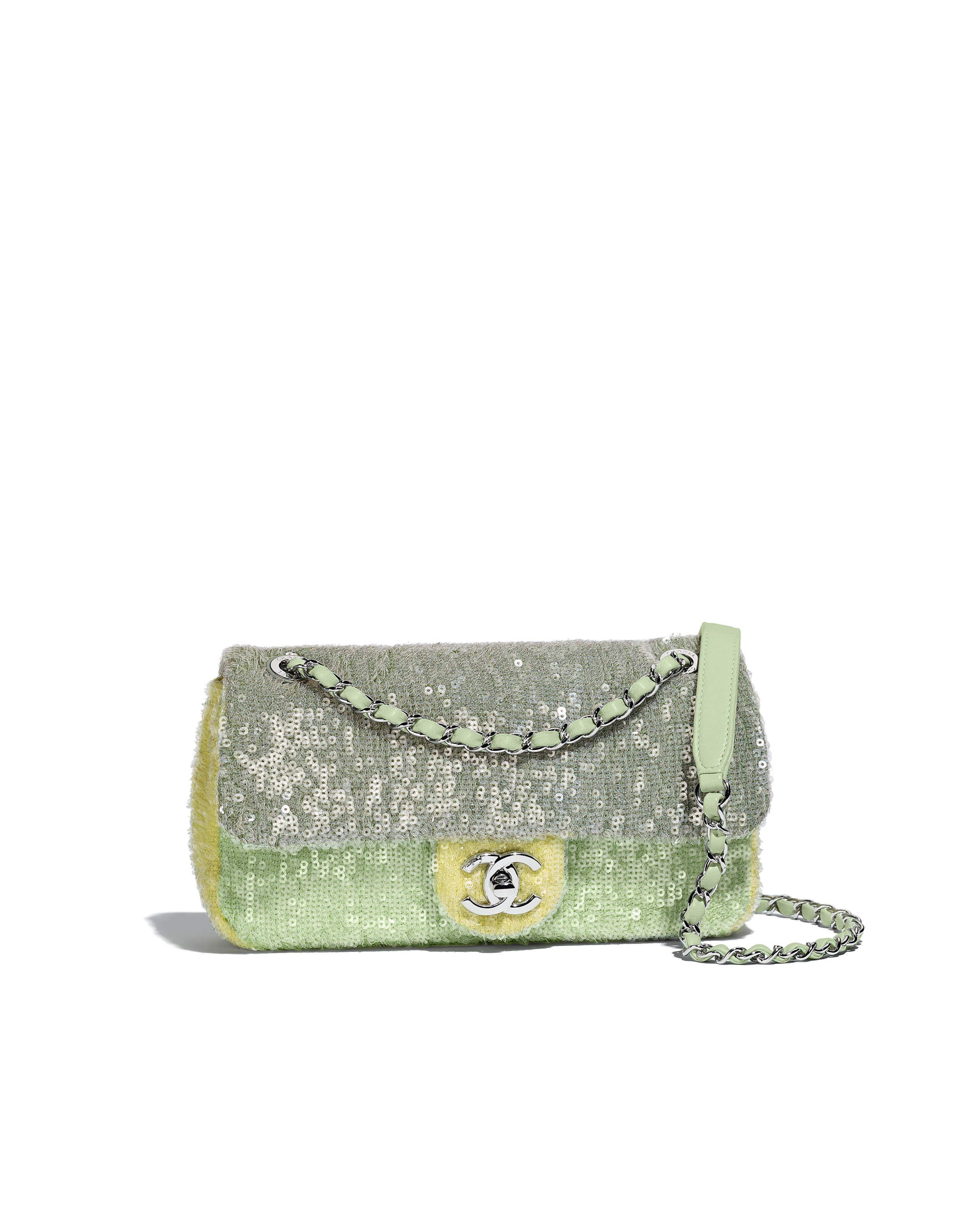f6d9320c6aab Chanel - SS2018 | Green, light green & yellow sequin flap bag | BAGS ...