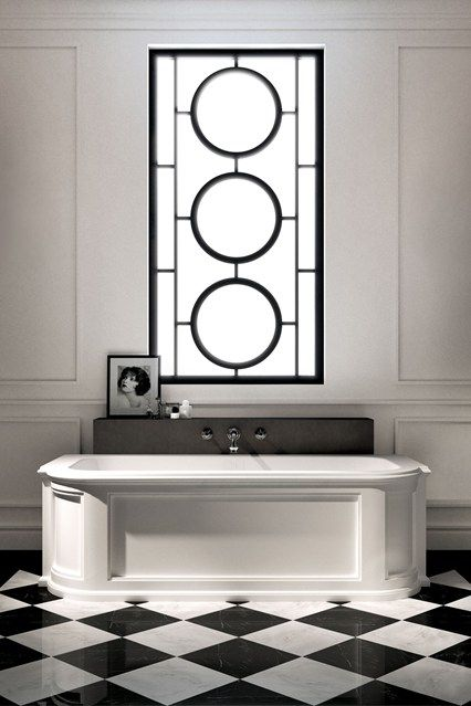 Art Deco Black White BathroomsArt
