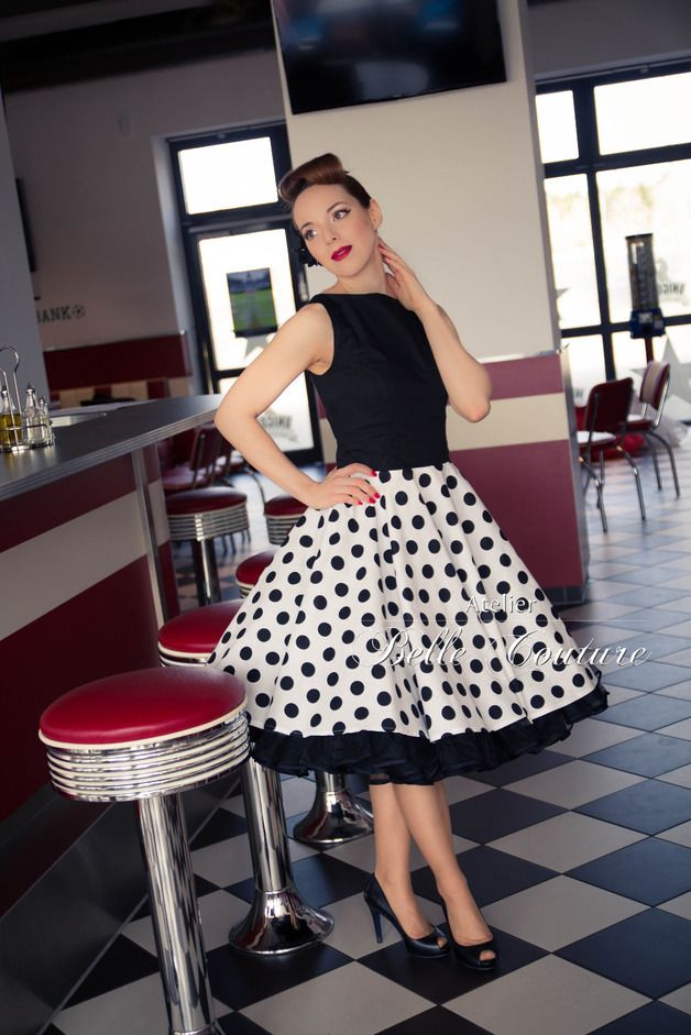 50er jahre rockabilly petticoat kleid rockabilly retro and rockabilly style. Black Bedroom Furniture Sets. Home Design Ideas
