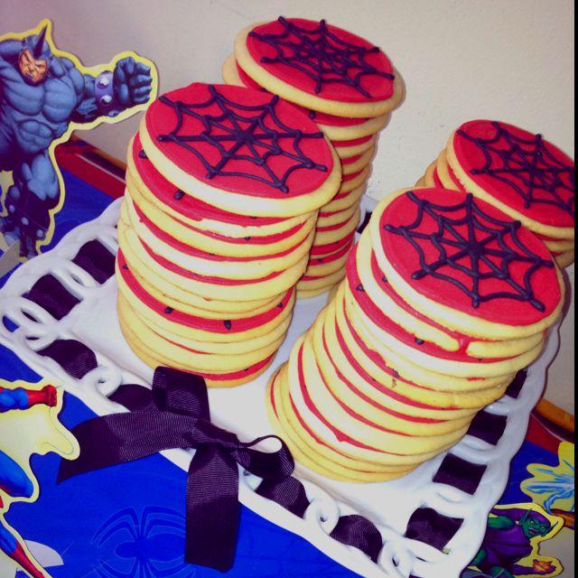 Spiderman Sugar Cookies