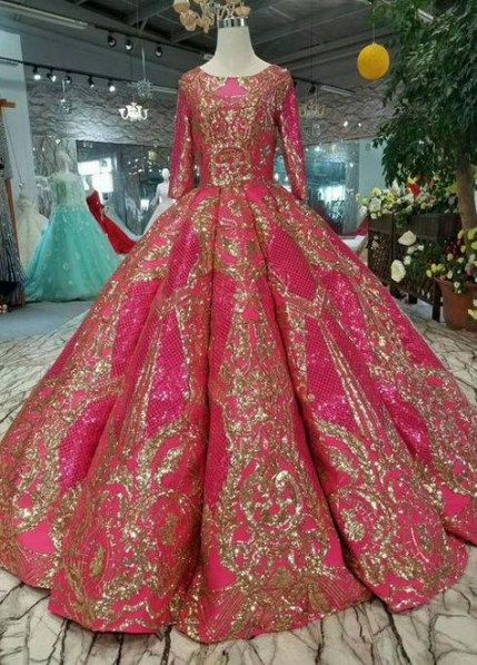 Trendy Wedding Dress Ball Gown With Sleeves Gold 68+ Ideas #wedding #dress