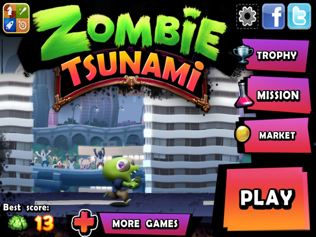 Zombie Tsunami pour l'iPad ou l'iPhone Games Pinterest