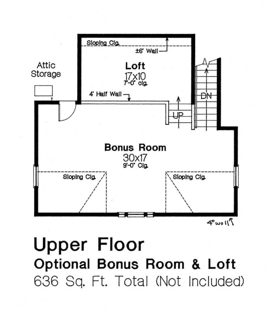 7970 L Upper Floor Guest House Plans House Floor Plans Granny Pods Guest Houses