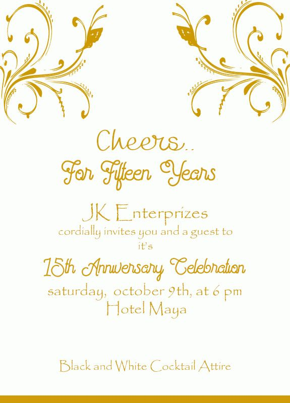15th golden wedding anniversary invitation wordings Anniversary