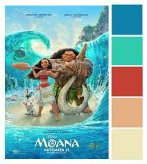 Disney Color Palette | Moana movie, Moana poster, Moana 2016