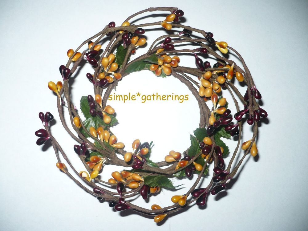 """PIP Berry 2/"""" Candle Ring Wreath New Spring Colors Color Variations"""