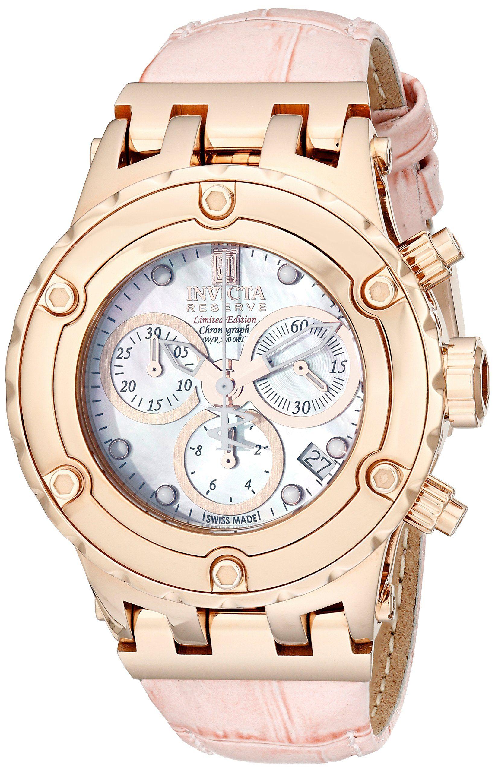 Invicta Women s 14606 Jason Taylor Analog Display Swiss Quartz Pink Watch 5a02656a18
