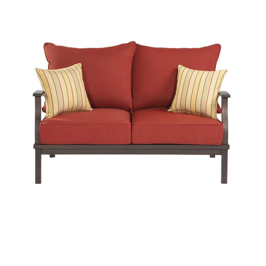 Superb Shop Allen Roth 2 Piece Gatewood Brown Aluminum Patio Uwap Interior Chair Design Uwaporg
