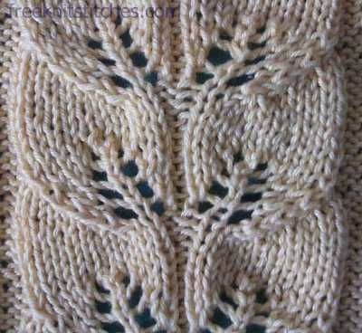 Drawn Work Lace Knitting Stitch Link Contains Chart Lace
