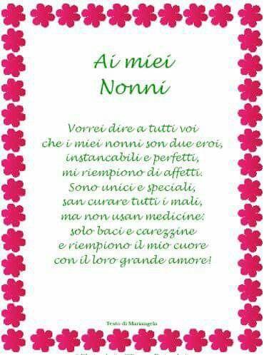 Poesia Nonni Nonni Festa Dei Nonni Regali Per La Nonna