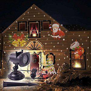 Blinngo Noël Projecteur LED Lampe Éclairage de scène Lumière 12PCS Films  Motif mouvement pour Décoration de Halloween Anniversaire… 3c43b5d6c22c