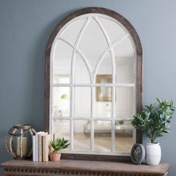 Vail Two Tone Arch Wall Mirror Kirklands I Have This Mirror Living Decor Farmhouse Wall Mirrors Mirror Decor
