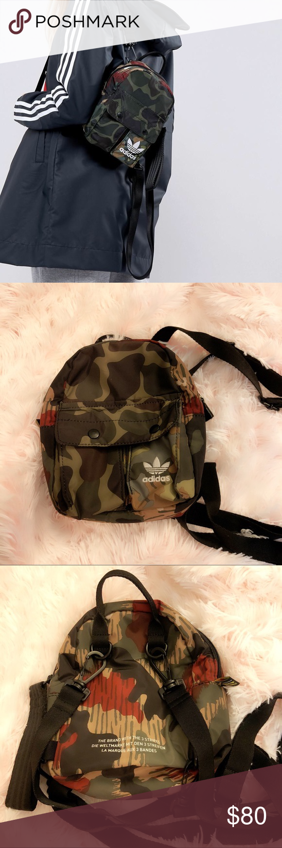 adfe27a121db Adidas Camo Mini Nylon Backpack Pharrell Williams Hu Hiking Mini Backpack.  No longer sold. This is a definitely a one-of-a-kind piece.