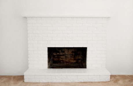 Bricks and Brick fireplace paint