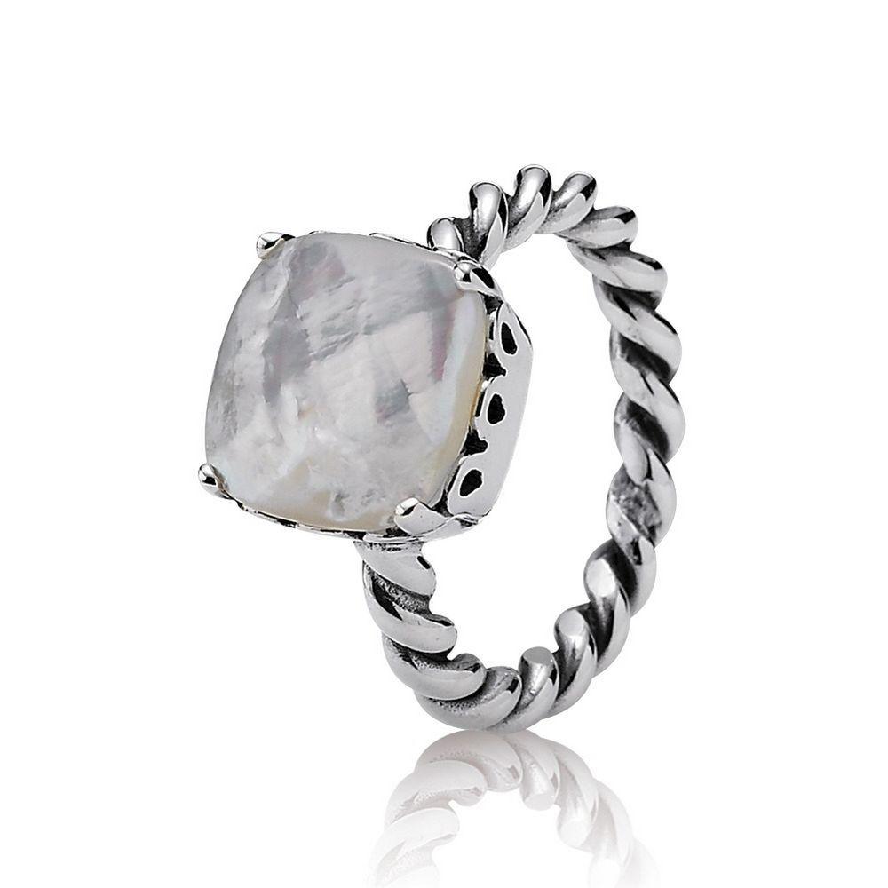 Elegant Sincerity Twist Ring Mother Of Pearl Pandora Us