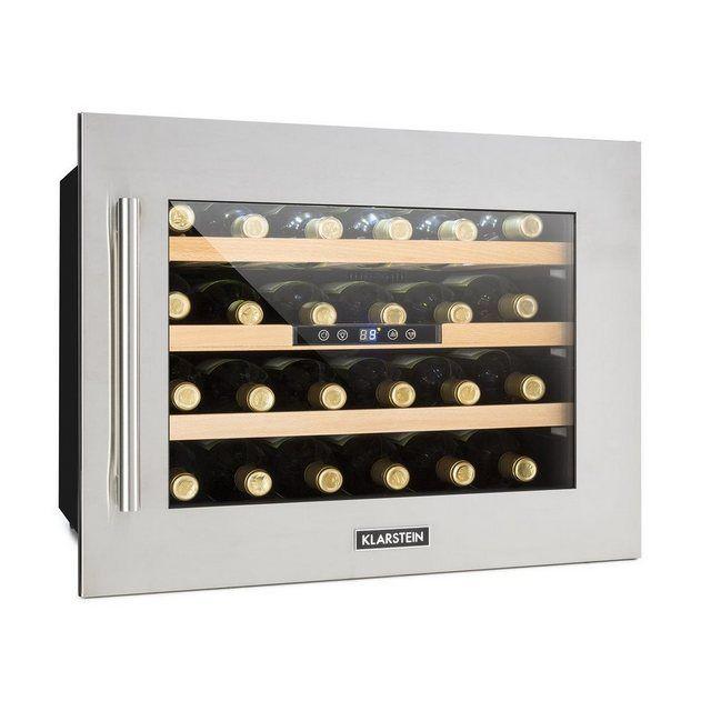 Weinkühlschrank Einbau 1 Kühlzone 24 Flaschen Edelstahl