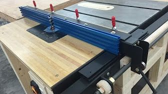 Table Saw Fence With Incremental Positioning Diy Table Saw Fence Router Table Fence Diy Table Saw