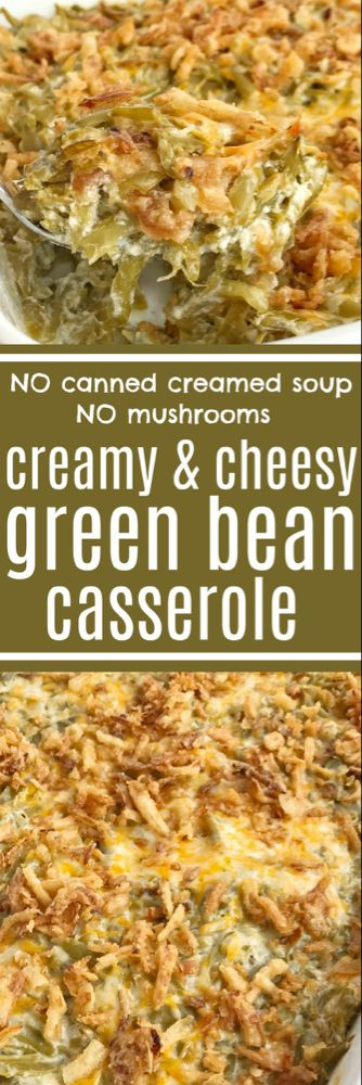 Green Bean Casserole (no mushrooms & no canned soup) | Together as Family