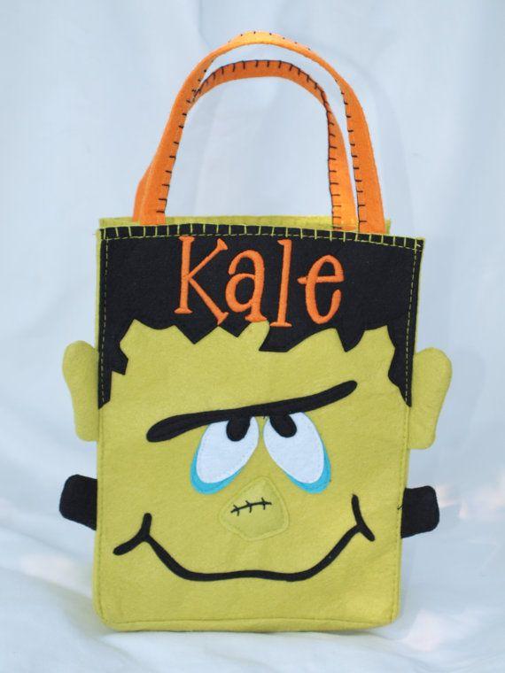 Trick or treat bag | Halloween Stuff | Pinterest