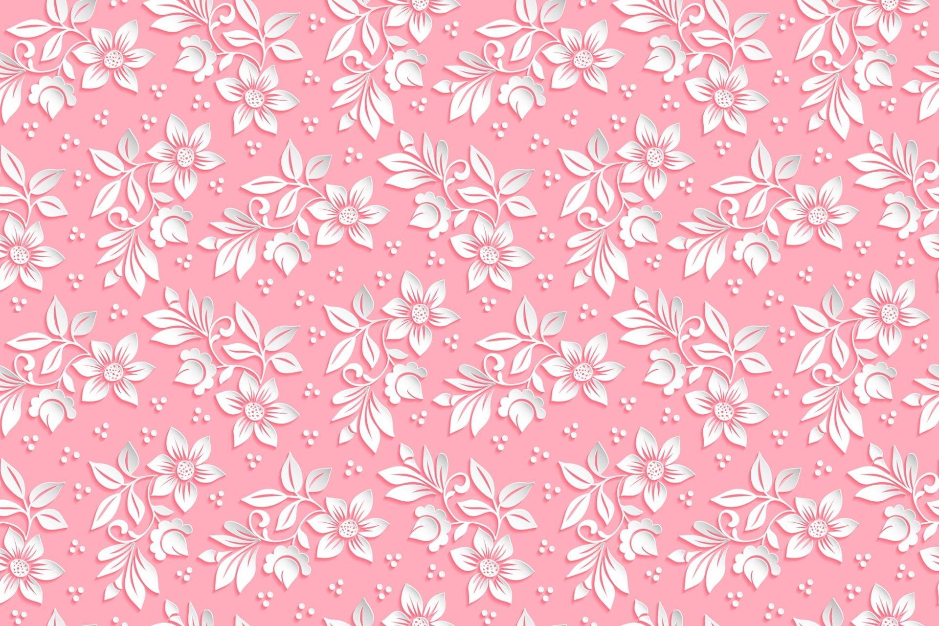 White Petaled Flowers Wallpaper Flowers Background Pink Pattern The Volume 1080p Wallpaper Hdwallpape Flower Wallpaper Wallpaper Mobile Legend Wallpaper