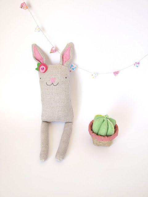 Rabbit soft toy by Pressec Handmade // Conejo Peluche de Pressec Handmade