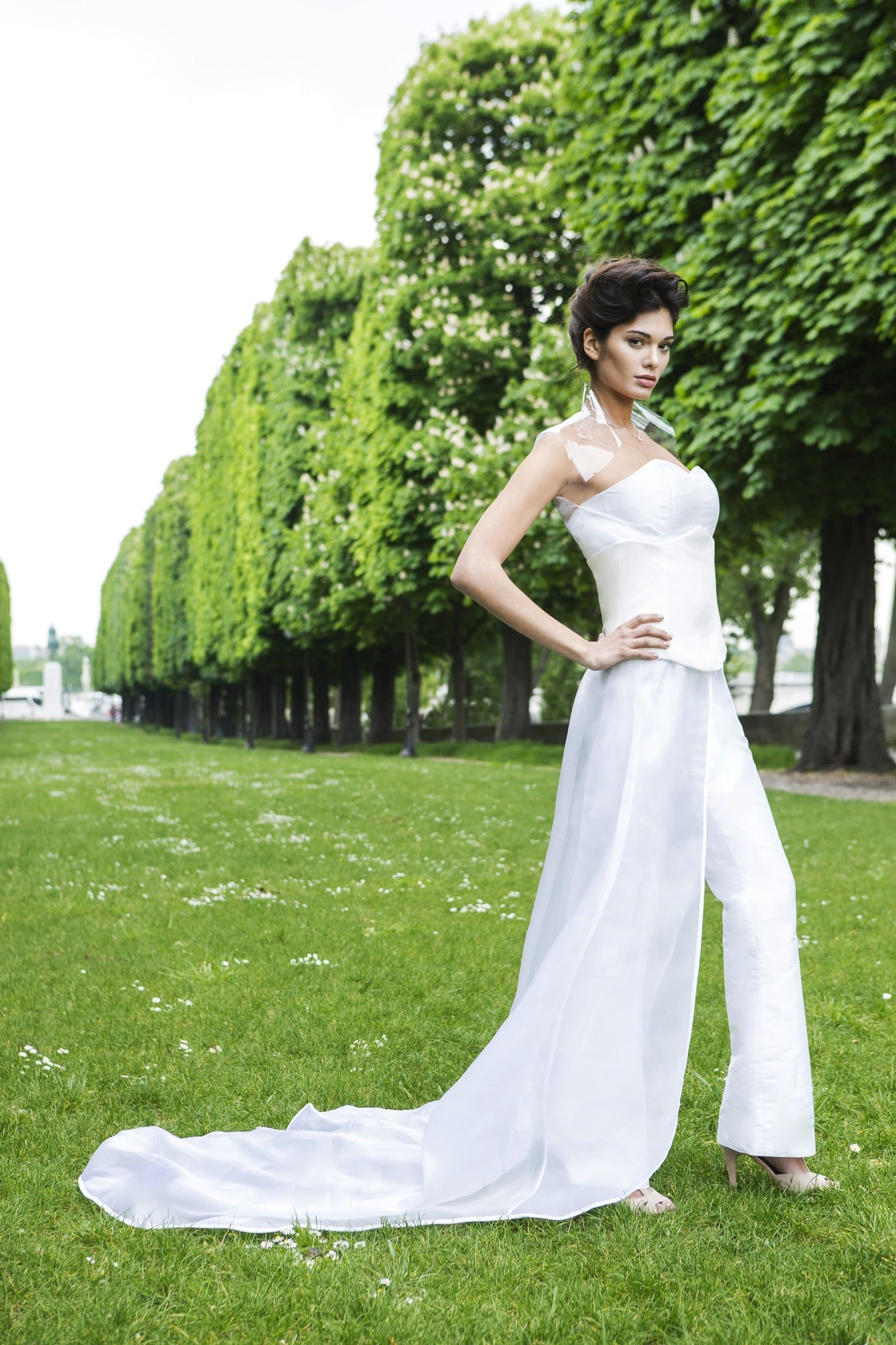Silk jumpsuit wedding dress by Laureen Couture | Wedding Dresses by ...