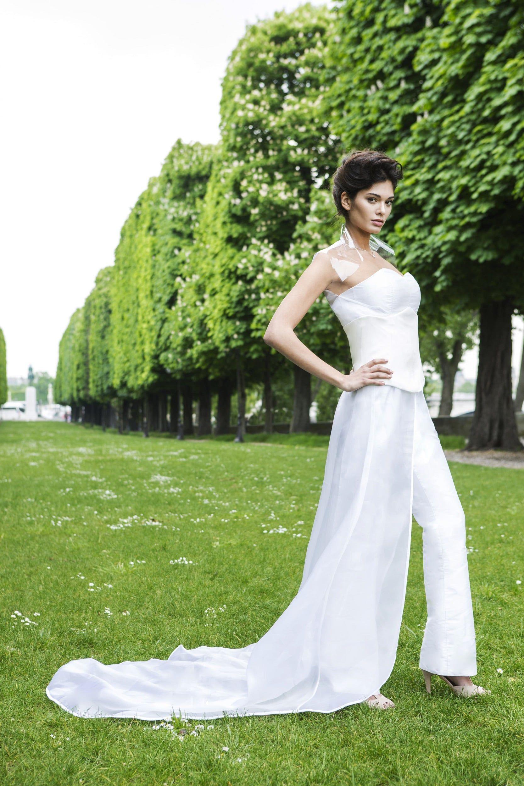 Silk Jumpsuit Wedding Dress By Laureen Couture Rental Wedding Dresses Miami Wedding Dress Dresses [ 2500 x 1666 Pixel ]