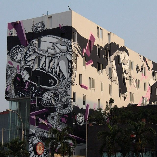new mural by darbotz in jakarta, indonesia graffiti street artnew mural by darbotz in jakarta, indonesia