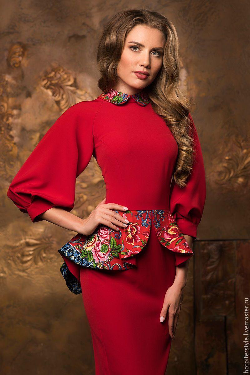 Купить Платье футляр в Русском стиле - платье футляр, платье в руском стиле, купить платье
