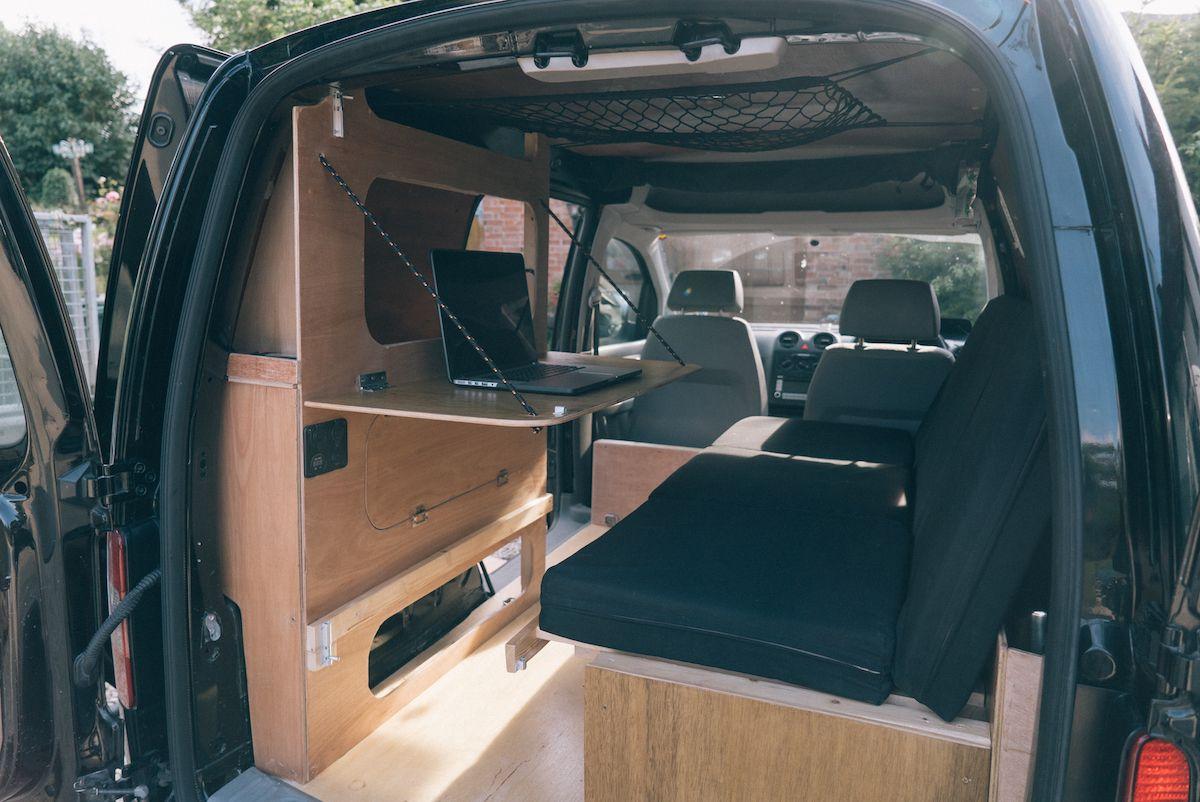 VW Caddy Camper Conversion  Vw transporter camper, Camper