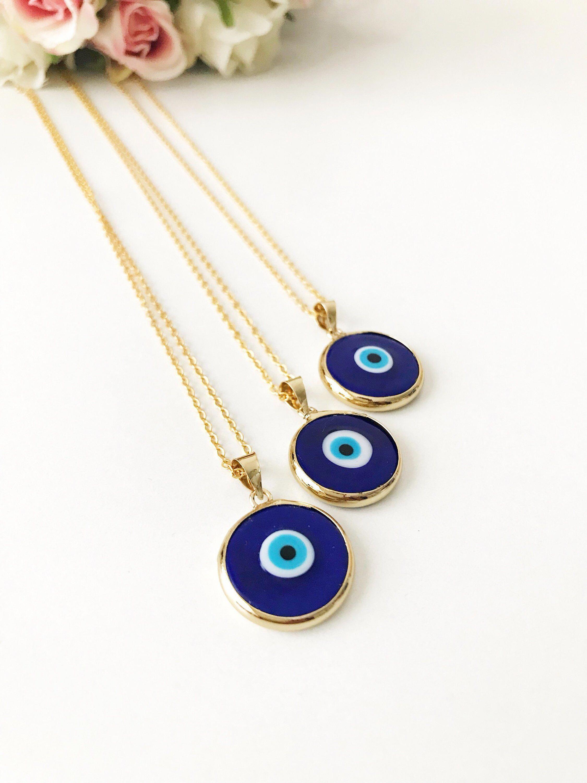 Evil Eye Necklace Blue Evil Eye Bead Evil Eye Charm Necklace Nazar Boncuk Glass Evil Eye Bead Turkish Evil E Evil Eye Necklace Eye Necklace Evil Eye Charm