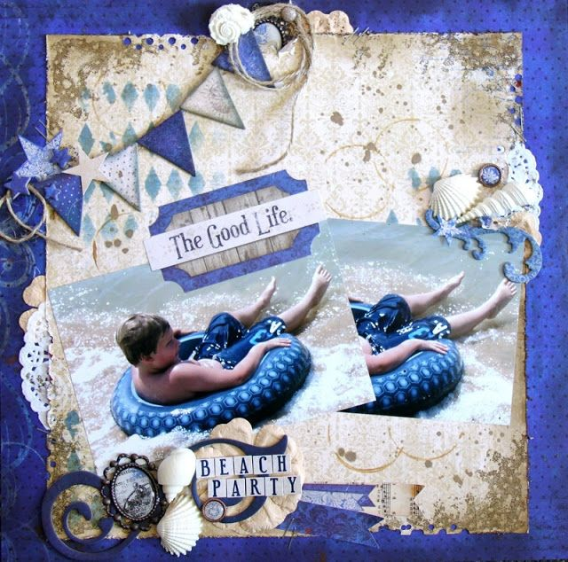 Bo Bunny: 2 or more of the same photo & 12 x 12 chipboard