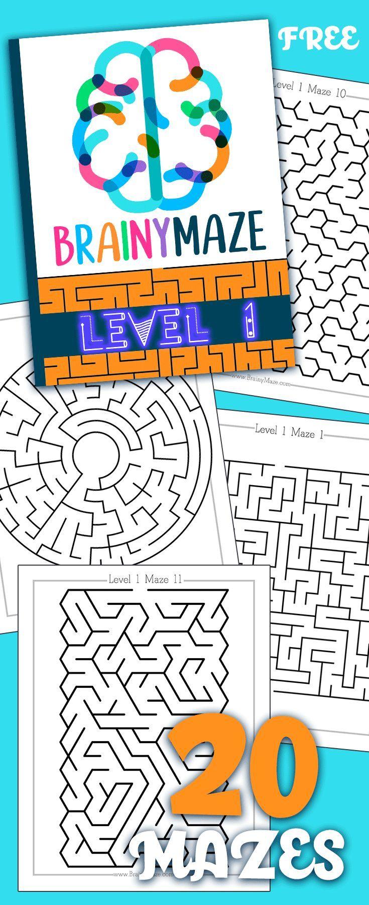 Level 1 20 Free Mazes!! in 2020 Free kindergarten