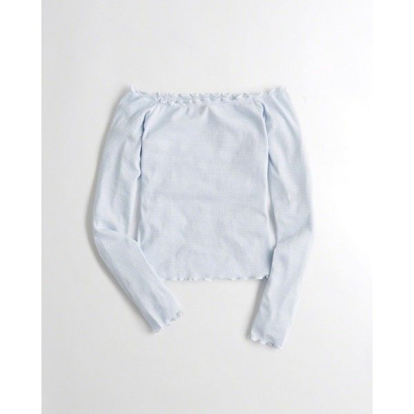 2b9cdea9a5e9e Hollister Ribbed Slim Off-The-Shoulder Top ( 20) ❤ liked on Polyvore