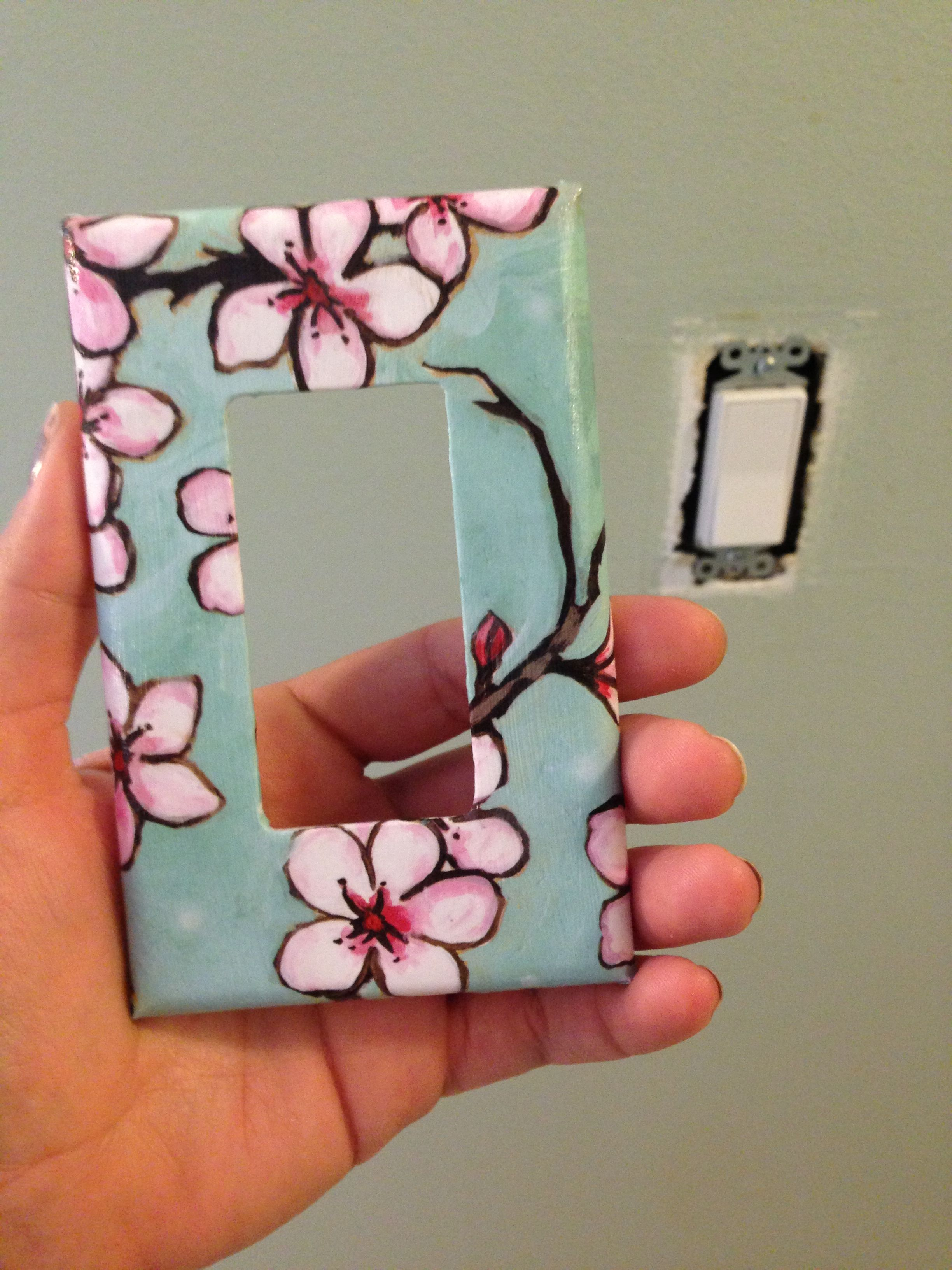 Another Mod Podge Light Switch Cover Our Pinterest Creations