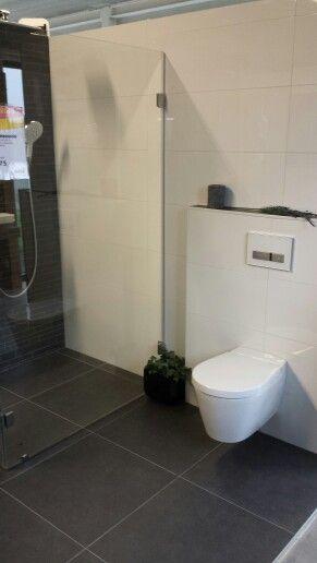 Wit antraciet douche scherm wc | Badkamer / wc | Pinterest