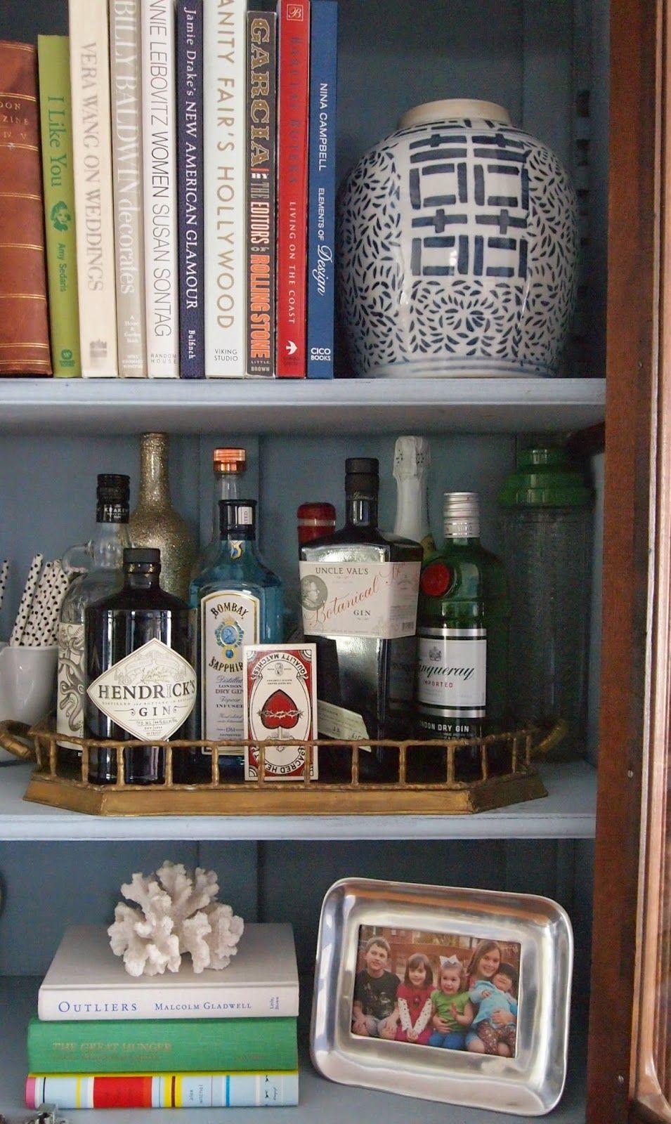 Making History Your Own Bookshelf Bar Styling Bookshelves Shelves Tray