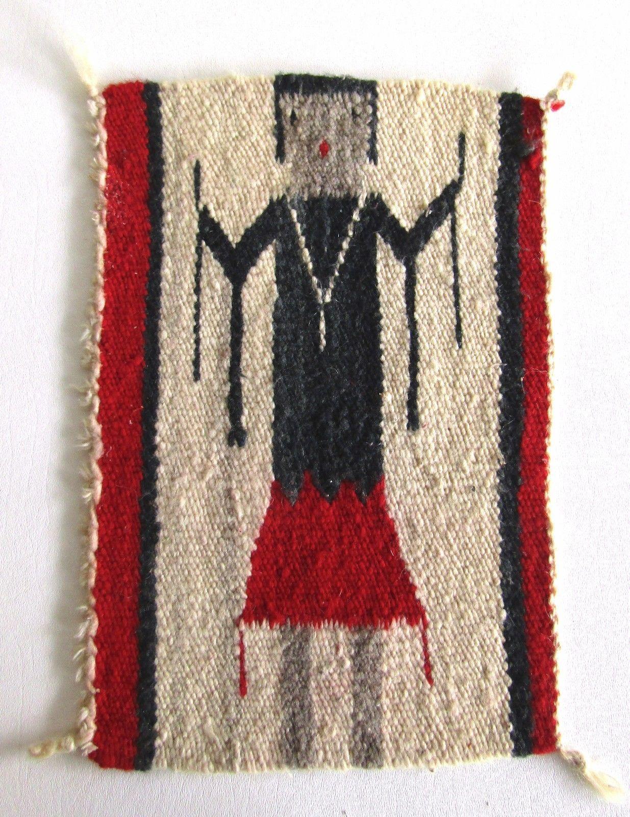 Navajo Rug Gallup Throw Mat Wool Weaving Textile Yei Figure 1930 S Early 40 Ebay