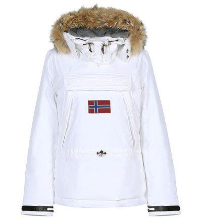 Parka Galeries Lafayette, achat Coupe-vent court Napapijri en blanc pour femme  prix promo Galeries Lafayette 500.00 € TTC 955da03c34d