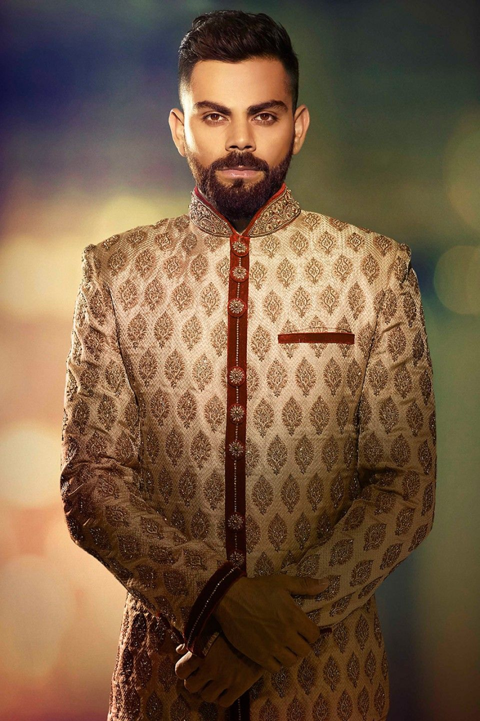 b2d8803cfd A Nawabi Sherwani With Zardozi Work - Virat Collection by Manyavar