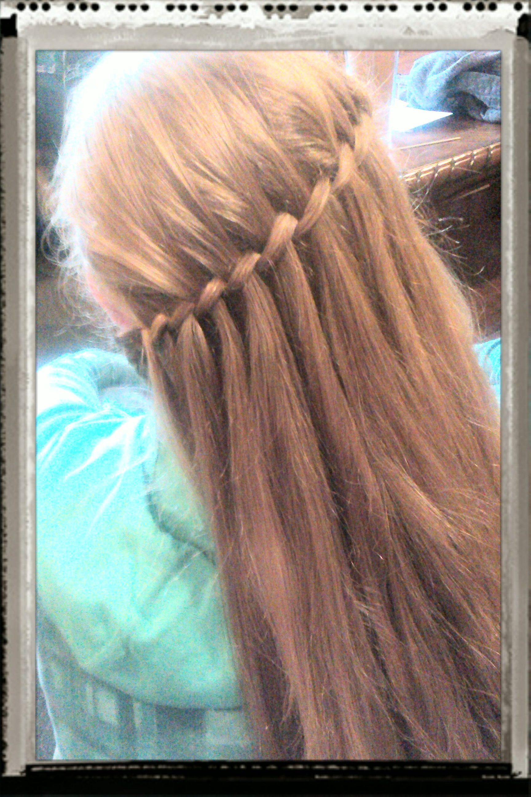 Waterfall braid on a slant Hair Styles Pinterest Hair style